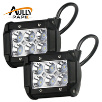2PCS 4 Inch 18W LED Light Lamp For Motorcycle Automobiles 4WD 4X4 Truck SUV ATV Spot