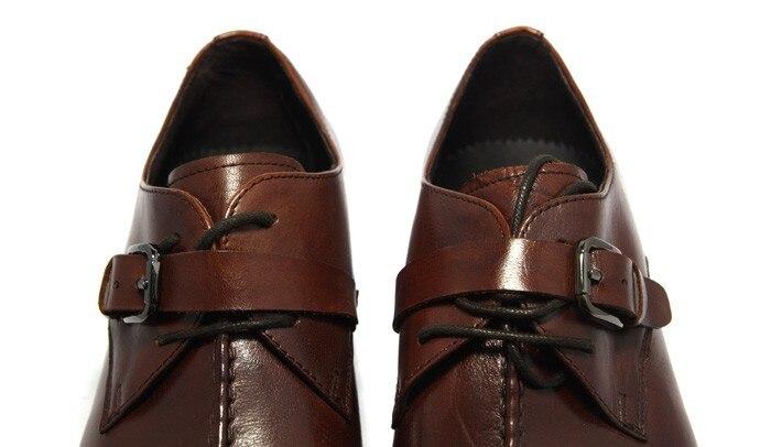 ed2cffb7e ... Купить 2018 итальянский Стиль Роскошные Мужская обувь из натуральной  кожи Мужские модельные туфли с острыми носками Бизнес Для мужчин брендовые  окс.