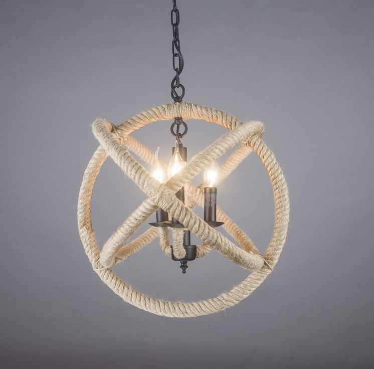 Американский канат винтажная промышленная подвесная люстра, подвесные светильники светодиодные лампы для дома скандинавские подвесные светильники в стиле лофт подвесные