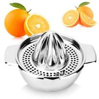 Thép không Gỉ Nhãn Juicer Trái Cây Lemon Lime Orange Ép với Bát Máy Ép Trái Cây Lọc