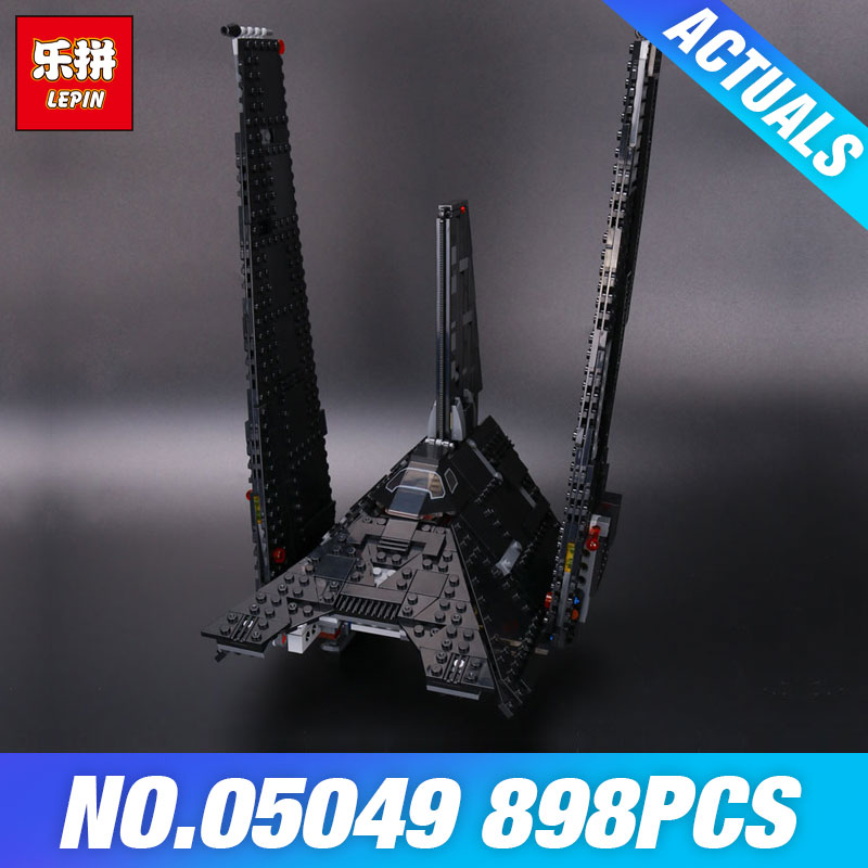 Nova 898Pcs Lepin 05049 Star Series Wars Shuttle Building Blocks Self-locking Bricks DIY Educational Toys Compatible with 75156 educational diy toys for children building bricks for girl restaurant self locking bricks compatible with lego