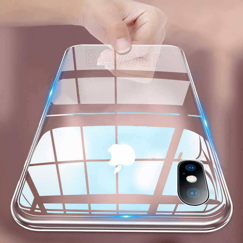 Clear Zachte Siliconen Telefoon Case Voor Iphone 11 Pro X Xs Max Xr 8 7 6 6 S Plus Ultra dunne Slim Tpu Cover Voor Iphone Se 2020