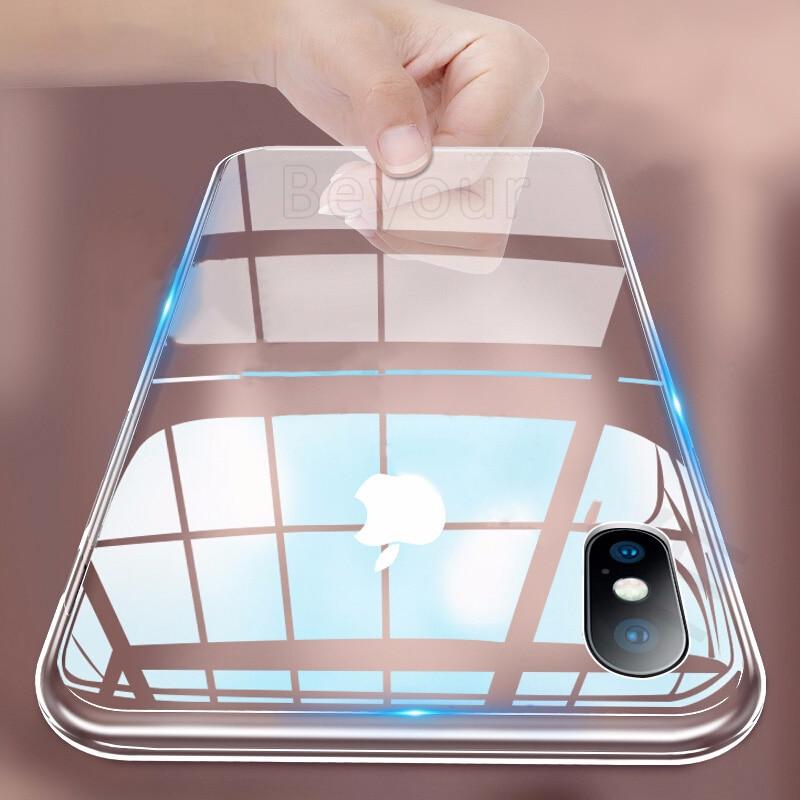 Роскошный чехол для телефона iPhone X XS XR MAX 8 7 6 6s Plus с защитой от падения, прозрачный чехол, Ультратонкий Мягкий силиконовый чехол из ТПУ|Специальные чехлы|   - AliExpress