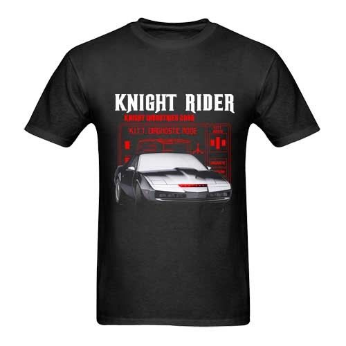 Knight Rider KITT Car Tshirt New Mens T-Shirt Size S to 3XL Cool Casual Sleeves Cotton T-Shirt Fashion Printing