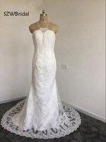 Casamento Холтер кружевные аппликации из бисера Русалка Свадебные платья 2018 белый халат де mariée свадебное платье vestidos de noiva