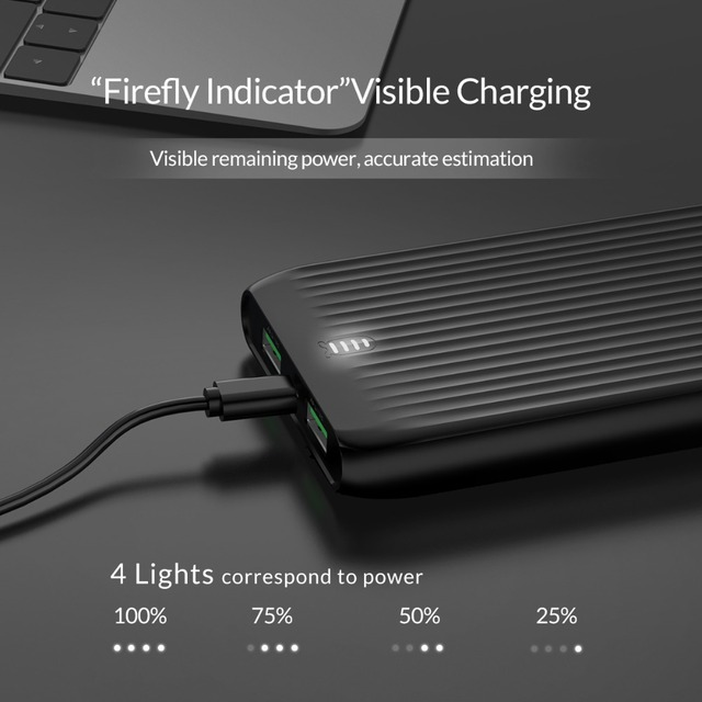 10000 mAh Slim Dual Power Bank