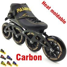 PASENDI Heat moldable inline speed skate 4 wheel 110mm 100mm Thermoplastic roller inline man women professional rolki skate