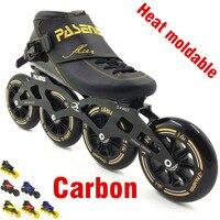 PASENDI Heat moldable inline скорость скейт 4 колеса 110 мм 100 мм термопластичный ролик на Человек Женщины Профессиональный rolki скейт