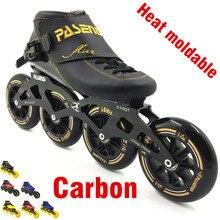 PASENDI heißformbarer inline speed skate 4 rad 110mm 100mm Thermoplastische roller inline mann frauen professionelle rolki skate