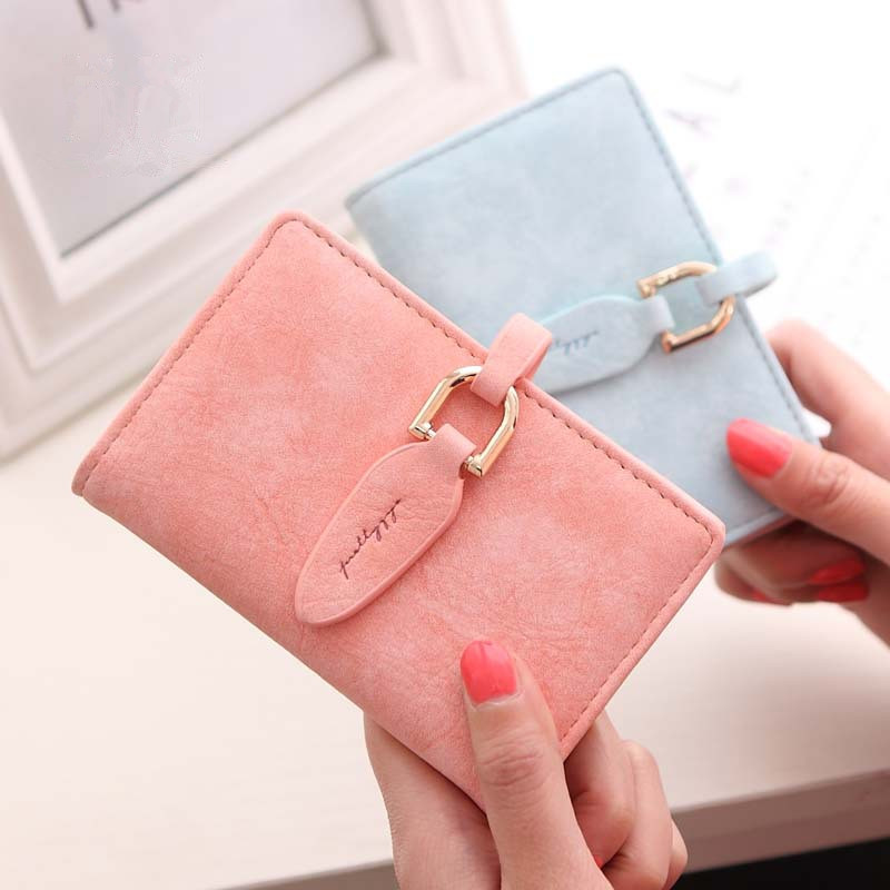 Yesello Small Fashion Lady Snap Fastener Short Clutch Wallet Vintage Matte Women Purse Female Purse short Coin Card Holder new fashion small lady wallets coin purse lady with card holder vintage women wallet short mini purse best gift for friend500835