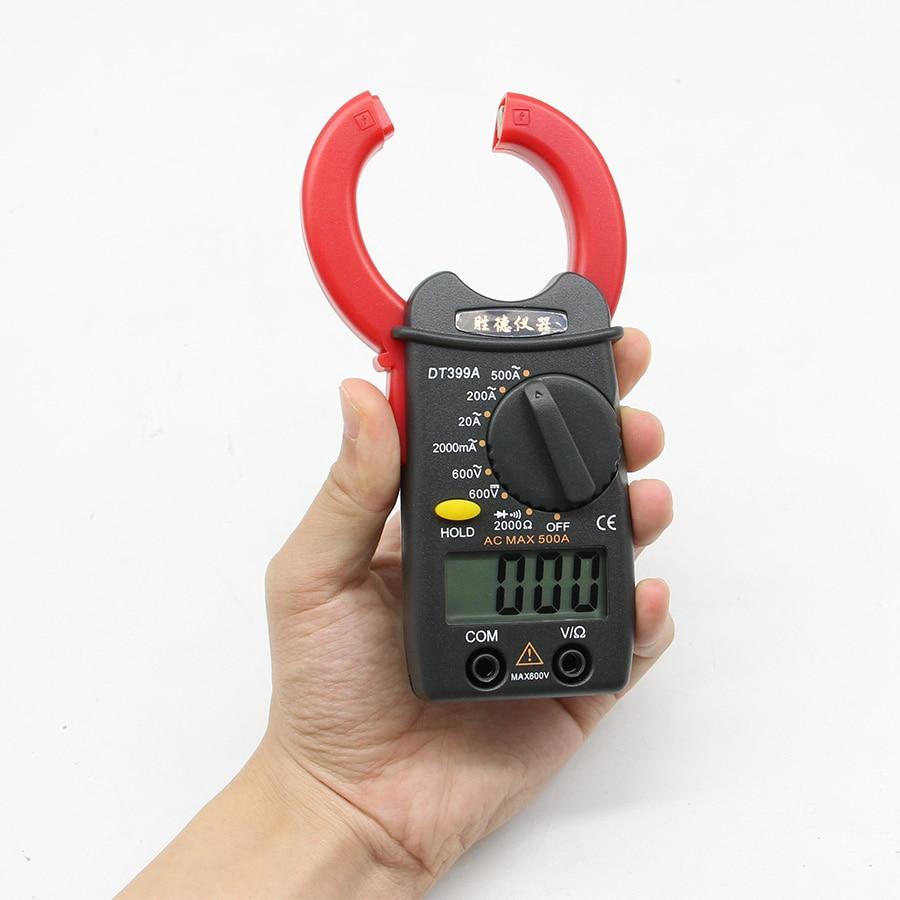Dt399a Digital Clamp Meter Mini Amperemeter Clamp Multimeter Kleine Strom Meter Spannung Strom Widerstand Tester