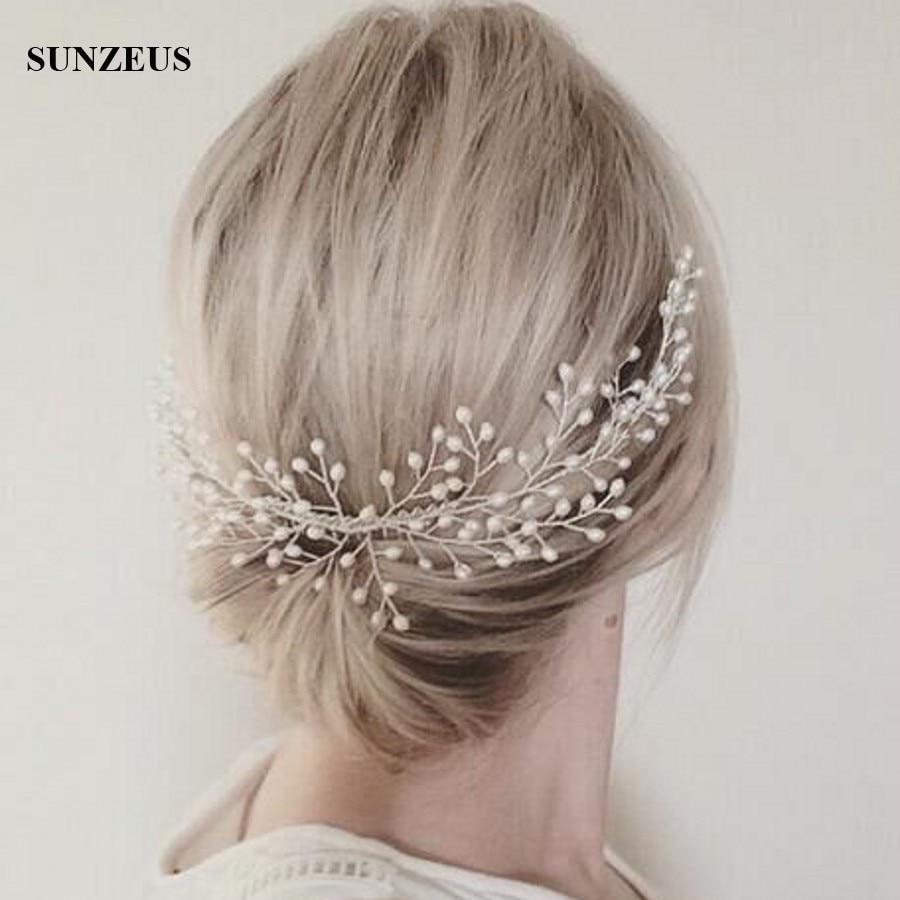 Pearls Bridal Hair Comb Wedding Head Piece Ladies Wedding Accessories 2020 Headpiece Free Shipping SQ091