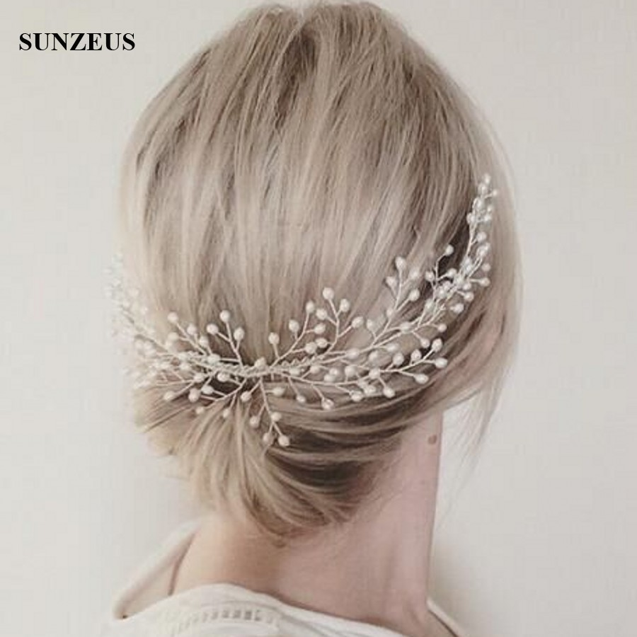 Pearls Bridal Hair Comb Wedding Head Piece Ladies Wedding accessories 2018 Free Shipping SQ091