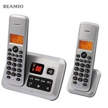 Digital Sistema de Teléfono Inalámbrico Con Identificador de llamadas Respuesta Europea Plata Rojo Con 2 Teléfonos Inalámbricos