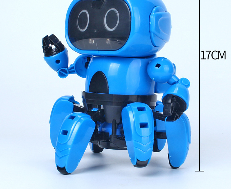 Intelligent Induction RC Robot DIY Assembled Electric Follow Robot with Gesture Sensor Obstacle Avoidance Kids Educational Toys 6