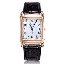 Часы наручные женские с квадратным циферблатом модные повседневные