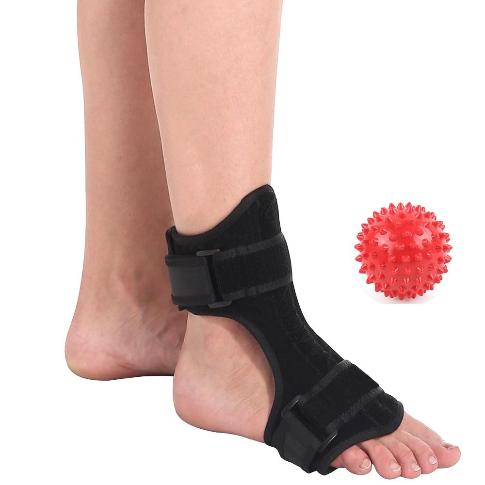 Plantar Fasciitis Support Brace Night Splint Foot Drop Ankle Instep Injury Rehabilitation Orthotic + Spiky Massage Ball