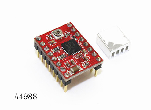 10pcs 3D Printer Kit A4988 Stepper Motor Driver Module with Heatsinks Reprap Board Free Shipping! K203