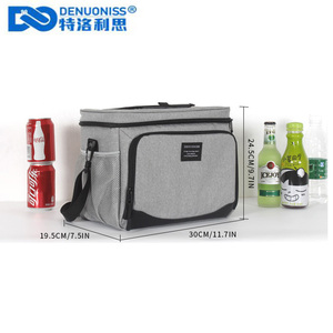 Image 2 - DENUONISS New Waterproof Cooler Bag Refrigerator Thermal bag Oxford 24 Can Large Capacity Thermos Bag Portable Fridge