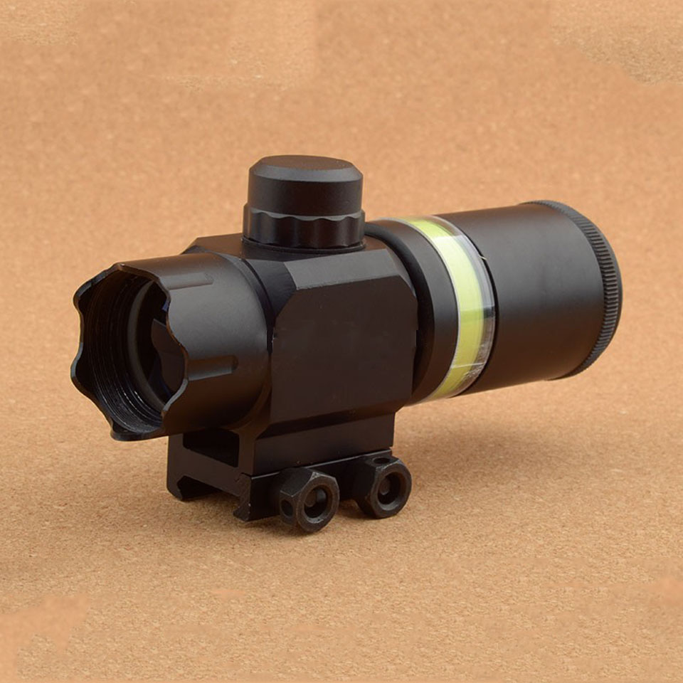 Tactical 2x28 Rifle Scope Green Optical Fiber Dot Sight Riflescope Hunting Shooting for 20mm Weaver Picatinny Rail Mount 1 5 4 28 rifle scope rifle scope shooting hunting pp1 0165