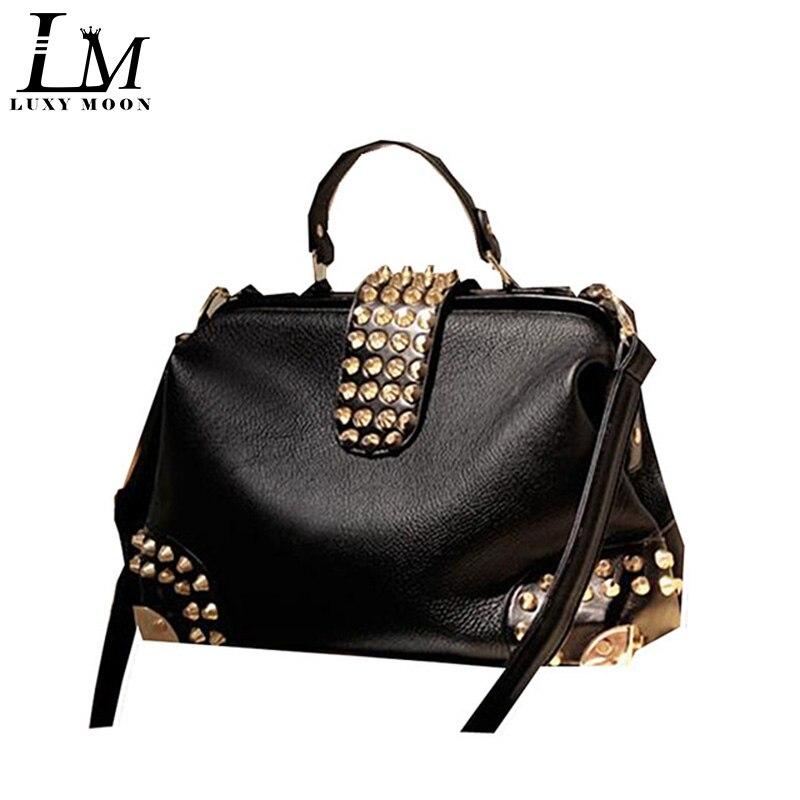 De înaltă calitate de vintage Top Handle Bag Negru moda femei - Genți