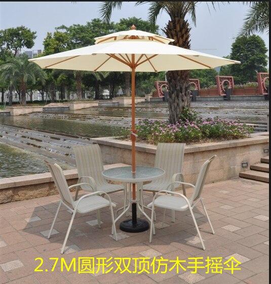 outdoor patio umbrellas umbrella 27 m high grade wood double top in the column with - Outdoor Patio Umbrellas