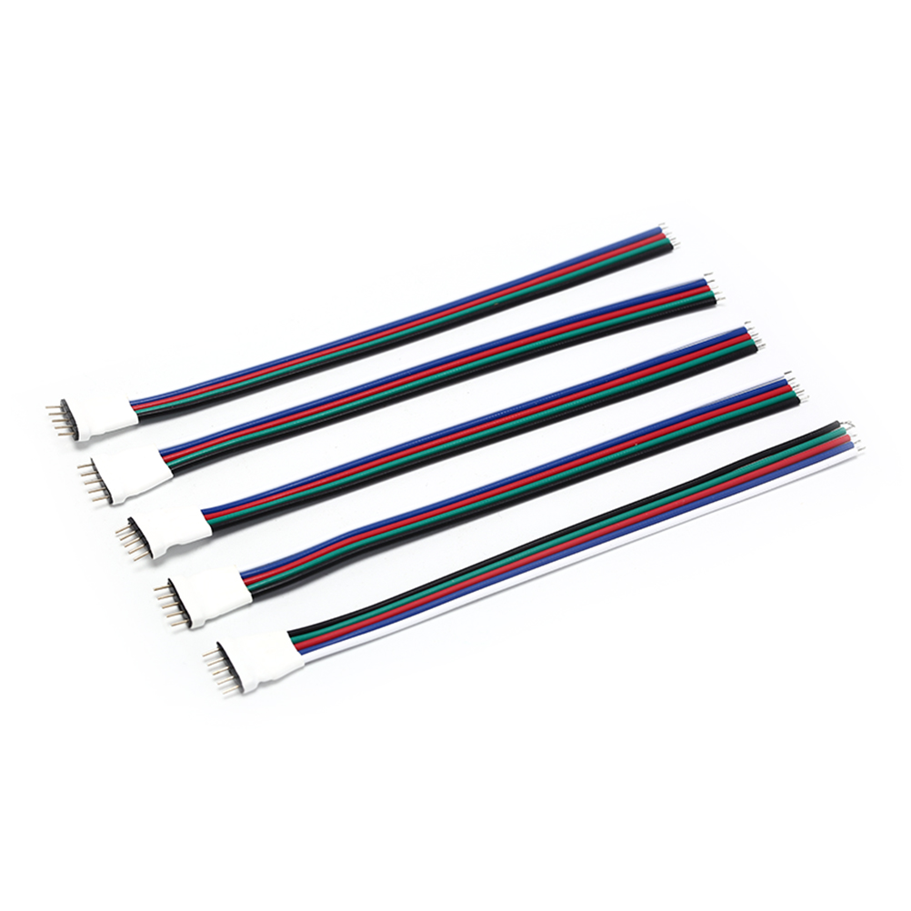 5pcs/lot <font><b>LED</b></font> <font><b>Strip</b></font> <font><b>5</b></font> <font><b>Pin</b></font> <font><b>Connector</b></font> Male RGBW Wire 5P Cable 15cm <font><b>5</b></font> Colors for SMD RGBW RGBWW <font><b>LED</b></font> <font><b>Strip</b></font> RGB Extension Whosesale image