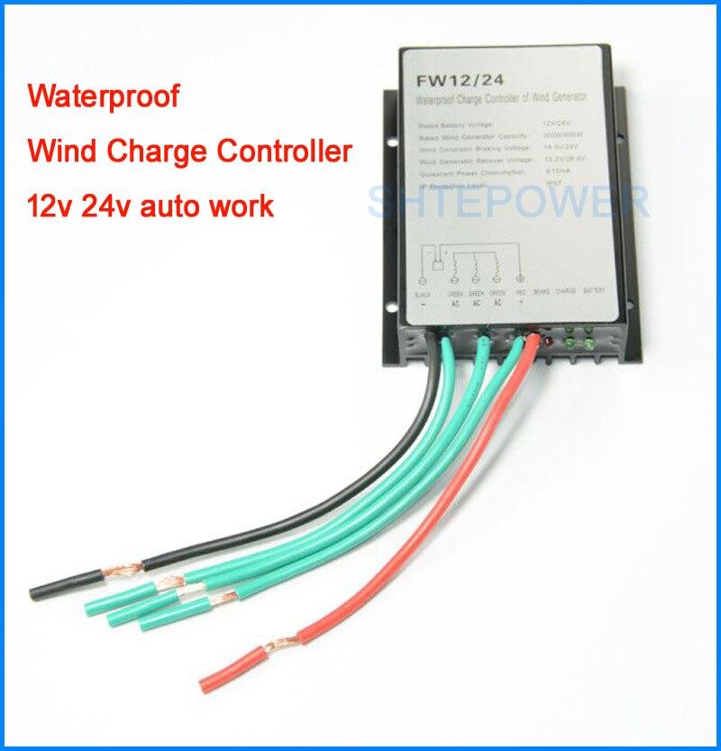 600W 12V/24V Waterproof Wind Turbine Generator Charge Controller Wind Controller Wind Generator Controller new smartgen controller genset controller generator controller hgm1770