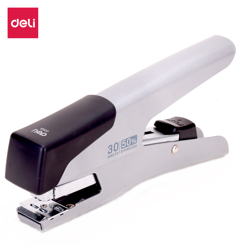 DELI 0358 Plier Stapler 24/6 26/6 Power Saving Hand Hold Stapler Stationery Office Supply Staples Office Accessories