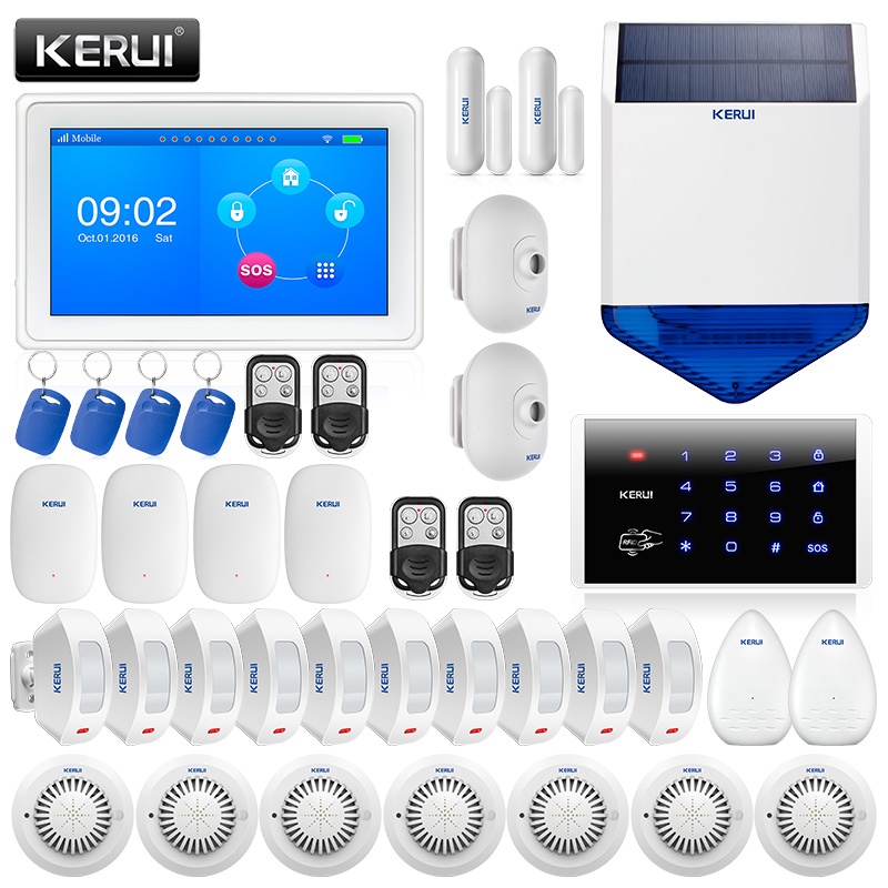 KERUI K7 WIFI GSM Alarm Systems Security Home App Control Smart Residential Wireless Burglar Alarme Casa