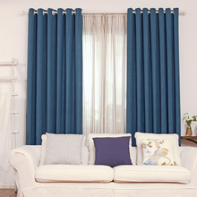 Thermal quality Mediterranean cotton linen curtains Tulle living room custom made with the best quality can be customized