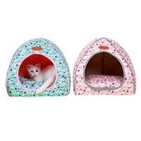 الكلب كلب سرير منزل تصميم مطوية حصيرة أدفأ بيت إمدادات تنفس وسادة القط كلب البيت القابل sml xl