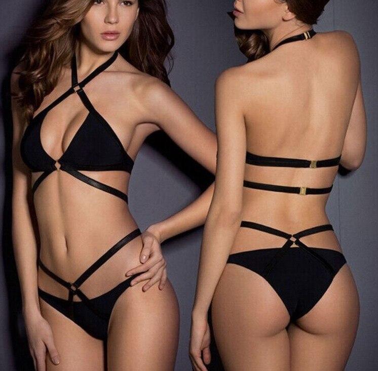 benda nera 2017 bikini set biquini costume da bagno delle donne costumi da bagno di vendita