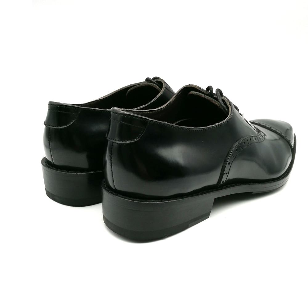 SP51 - Zapatos Oxford de cuero genuino de los nuevos hombres marrones - Zapatos de hombre - foto 4
