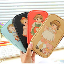 Girl multi-functional pencil case Cute pen Bag For Teenagers Girls Women Pu Leather Pen Box Stationery Pouch School Supplies недорого