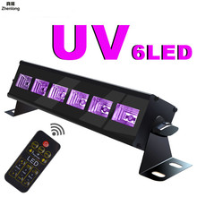 Led Wall Washer Stage Lights Remote Control UV Purple Light Halloween Decoration KTV Bar DISCO 18w AC110-240V Flash