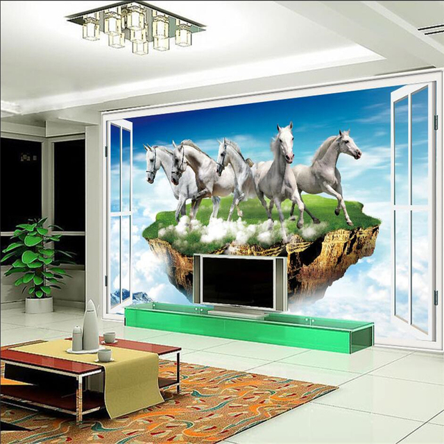Beibehang custom wallpaper mural wall stickers ideas creative three dimensional background decorative wall paintings