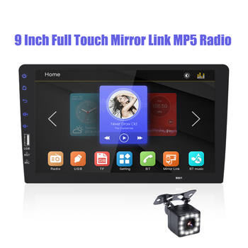 2 DIN Car Radio 9 Full touch mirror link Car Stereo Player Car Multimedia Player MP5 Bluetooth USB Auto-radio Car Rear Camera image