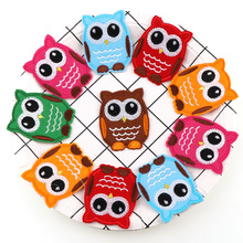 6PC  Mix Color Cute Owl Embroidered Iron On Patches Cloth Accessories New Arrival Popular Clothing Cartoon Appliques