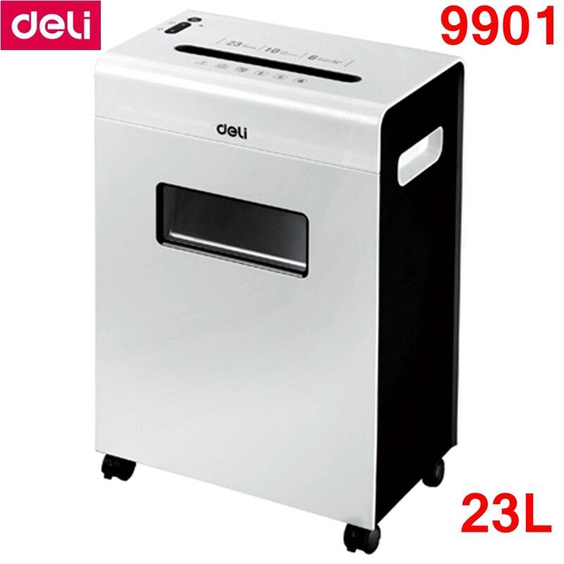 [ReadStar]Deli 9901 Electric paper shredder office 23L volume 220-230VAC/50Hz Power saving auto stop Paper shredder Drawer type