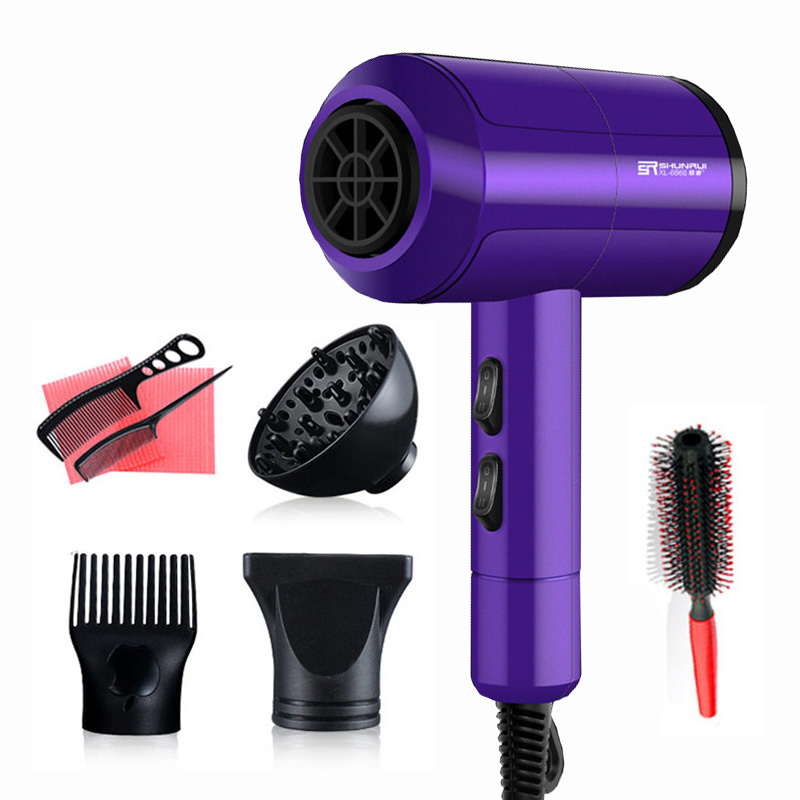 3200W Powerful Professional Salon Hair Dryer Negative Ion Blow Dryer Electric Hairdryer Hot/Cold Wind With Air Collecting Nozzle kemei new professional 1200w luminous black hair dryer blow dryer negative ion hairdryer hot and cold secador free shipping