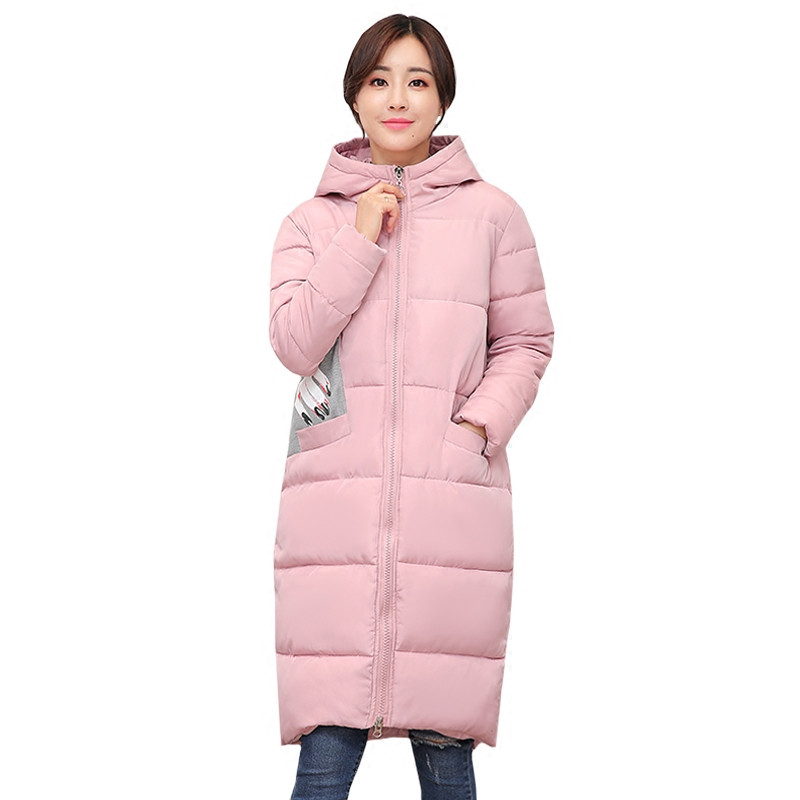 Fashion Women Winter Down Cotton Jacket Coat 2017 Female Hooded Long Slim Parkas Cotton-padded Outwear Plus Size Overcoat CM1626 wmwmnu women winter long parkas hooded slim jacket fashion women warm fur collar coat cotton padded female overcoat plus size
