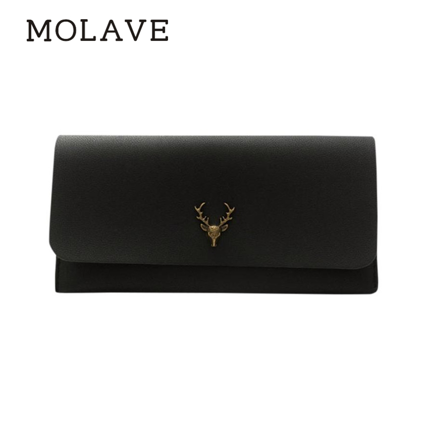 MOLAVE wallets wallet female Solid card holder hasp Fashion Women Leather Wallet Clutch Card Holder Purse Wallets Bag Feb9 3 fold hasp wallets fashion female rivet women clutch purse wallet brief design ladies purse card holder pu leather wallet