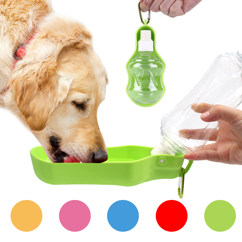 500ml 250ml Sport Pet Dog Water Bottle For Kitten Cat Drinking Fountain Automatic Slow Water Dispenser Plastic Travel Dog Bowl
