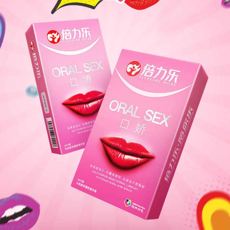 10pcs/pack Safer Contraception Peach Flavor Latex Ultra Thin Enlarge Mouth Condoms for Oral Sex toy Blow Job penilingus image