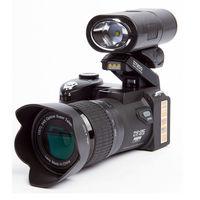 Поло D7200 цифровая камера 33MP Автофокус Professional SLR HD видеокамера 24X + телеобъектив широкоугольный объектив СВЕТОДИОДНЫЙ заполняющий свет