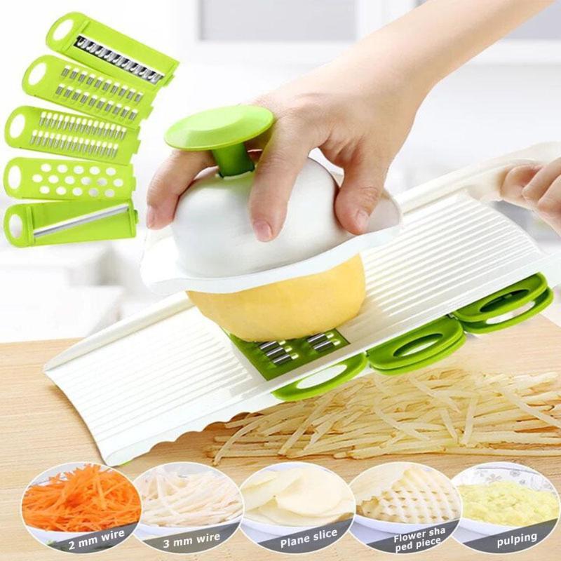 Manual Potato Slicer Vegetable Fruit Cutter Stainless Steel Mandoline Onion Peeler Carrot Grater Dicer Kitchen Tools
