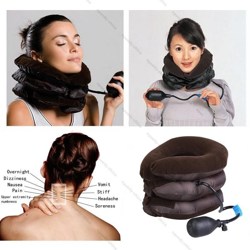 Inflatable Blow Cervical Neck Head Pain Traction Pillow Support Brace Device medical neck support orthosis adjustable cervical collar device fixed traction braces vertebra rehabilitation head protection