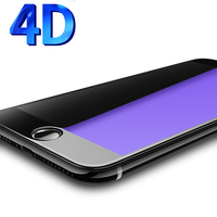 4D Full Screen Protector Tempered Glass For IPhone 7 6 6s Plus 4D Anti Blue Light