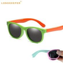 Гибкие поляризованные детские солнцезащитные очки, детские черные солнцезащитные очки для маленьких девочек и мальчиков, солнцезащитные очки, 1,5-11 лет, детские очки